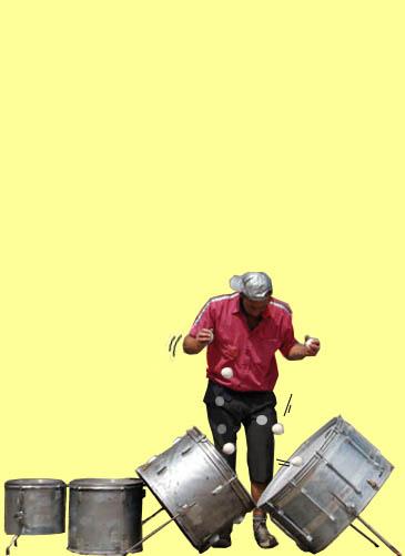 jongleren op drums