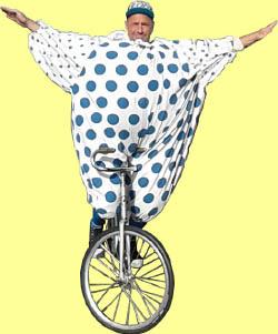 staan op fiets