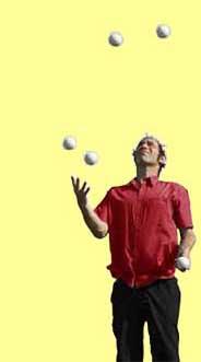 jongleren 5 ballen